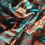Палантин шерстяной 10219-16, павлопосадский шарф-палантин шерстяной (разреженная шерсть) с осыпкой, фото 8