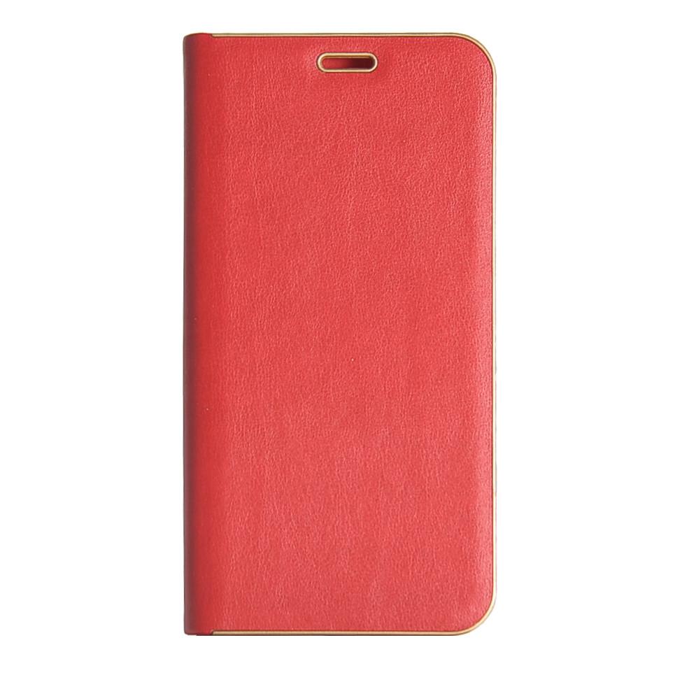Кожаный чехол-книжка для смартфона Huawei Y6 Prime 2018 (ATU-L31)  Florence TOP №2 красная