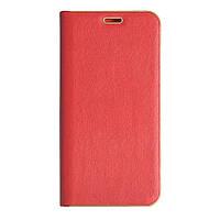 Кожаный чехол-книжка для смартфона Huawei Y6 Prime 2018 (ATU-L31)  Florence TOP №2 красная, фото 1