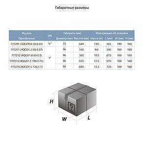 Насос шнековый скважинный 0.75кВт H 170(107)м Q 35(20)л/мин Ø96мм (нерж) AQUATICA (DONGYIN) (777213), фото 2