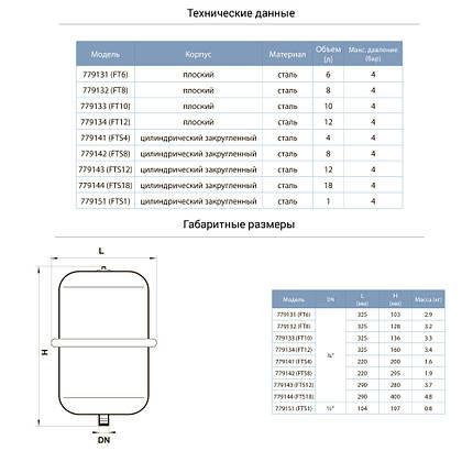 Бак для системи опалення циліндричний 4л AQUATICA (779141), фото 2