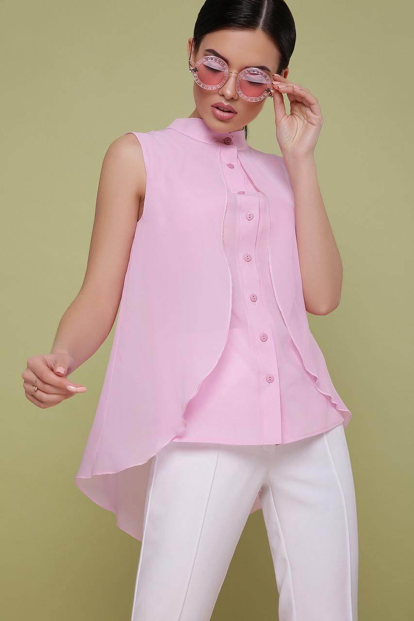 Женская розовая блузка без рукавов Санта-Круз б/р