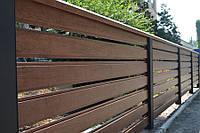 Забор Ранчо горизонтальный металлический паркан