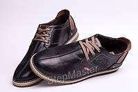 Кожаные мужские туфли Clarks Desert Boot черные