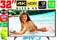 "Изогнутый телевизор SmartTV 32"" 4K UHDTV,LED, IPTV, Android,T2,WIFI, Curved TV ГЕРМАНИЯ оригинал!"