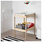 IKEA SNIGLAR Пеленальный стол, бук, белый  (200.452.05), фото 4