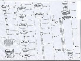 Насос центробежный скважинный 0.75кВт H 44(30)м Q 180(133)л/мин Ø102мм AQUATICA (DONGYIN) (777151), фото 3