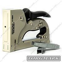 Степлер рессорный ПРОФИ для скобы 4-14 мм 11,3х0,7мм, плавная регулировка силы удара, корпус металл