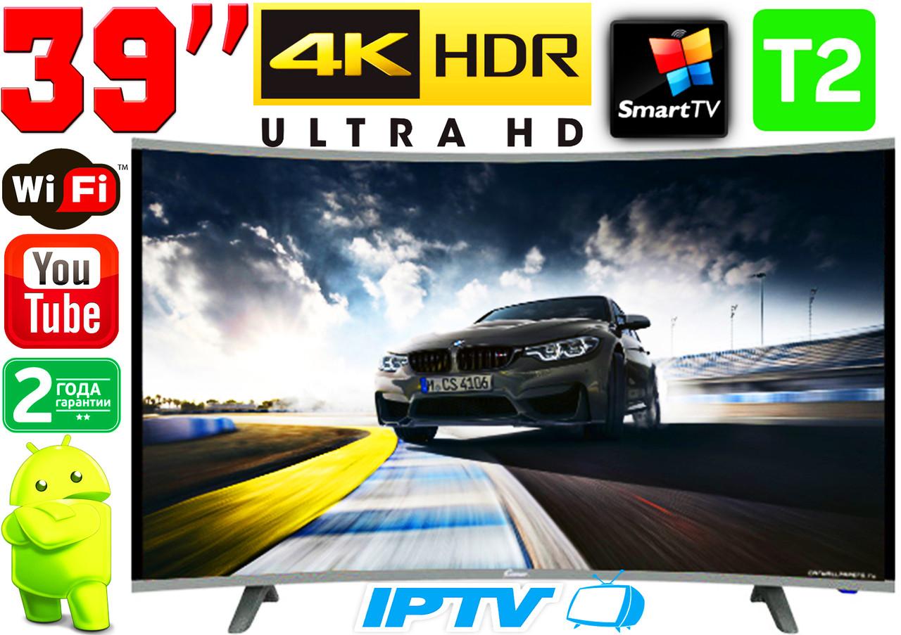 "Вигнутий телевізор SmartTV 39"" 4K UHDTV,LED, IPTV, Android,T2,WIFI, Curved TV НІМЕЧЧИНА оригінал!"