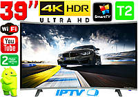 "Изогнутый телевизор SmartTV 39"" 4K UHDTV,LED, IPTV, Android,T2,WIFI, Curved TV ГЕРМАНИЯ оригинал!"