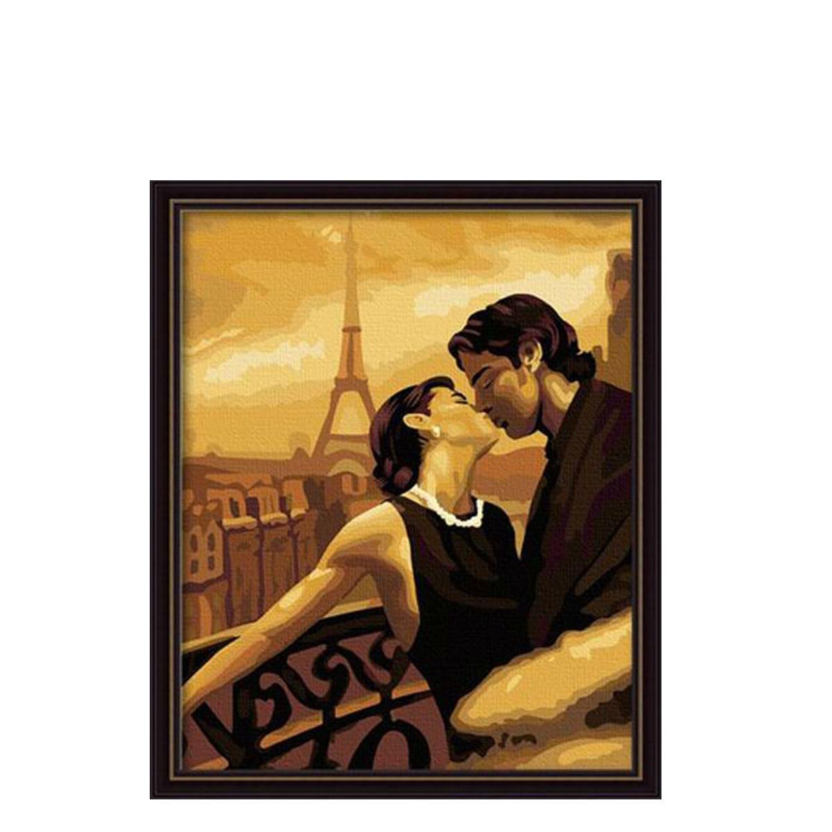 Картина по номерам Роспись на холсте Французский поцелуй 045 40*50 см