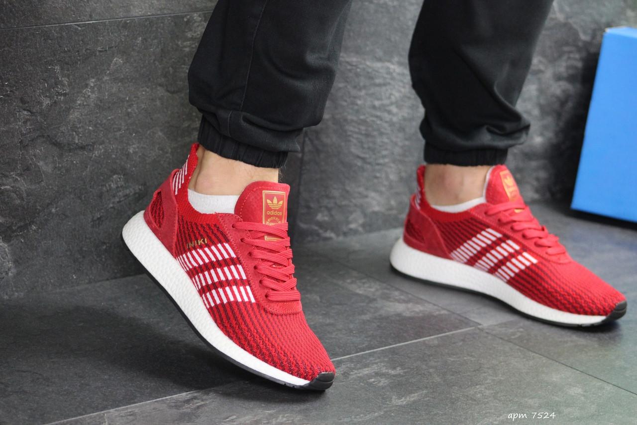Мужские кроссовки Adidas Iniki (красные)
