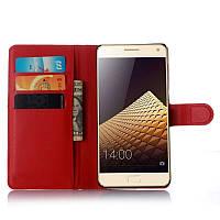 Чехол-книжка Litchie Wallet для Lenovo Vibe P1 Красный
