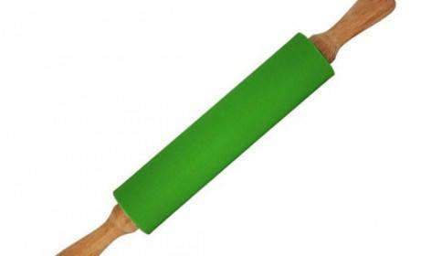 Скалка силиконовая с деревянными ручками , фото 2