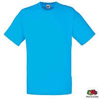 Футболка Fruit of The Loom Valueweight T мужская хлопковая 165 г/м2, ярко-голубая, S-3XL, от 10 шт