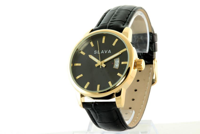 Мужские часы SLAVA 10007 + ПОДАРОК: Держатель для телефонa L-301