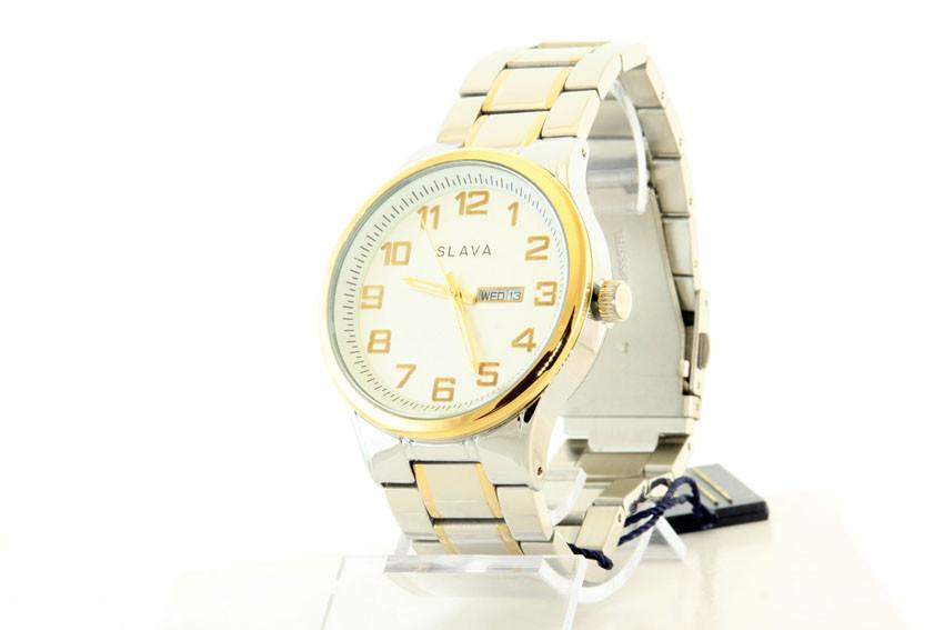 Мужские часы SLAVA 10009 + ПОДАРОК: Держатель для телефонa L-301