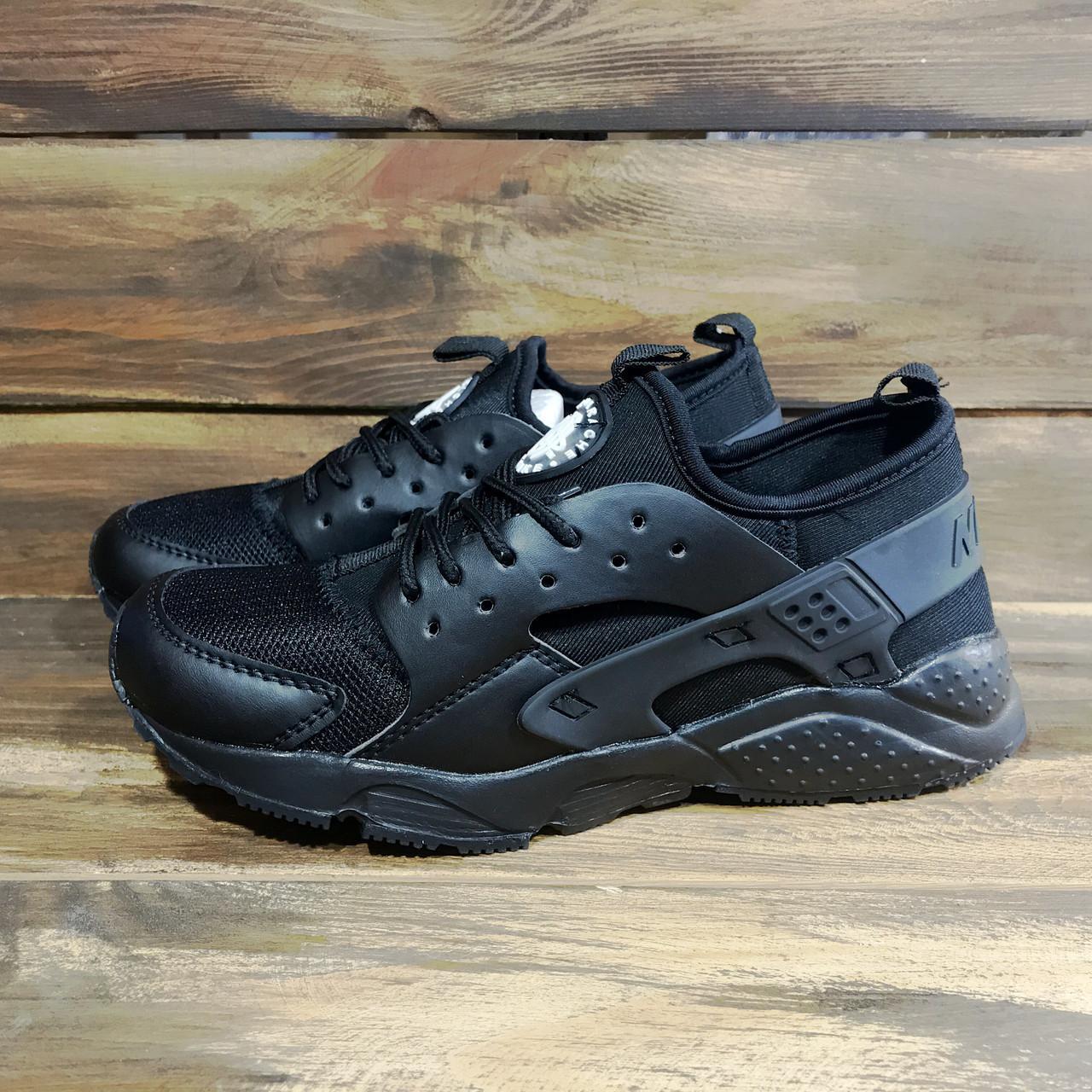 Кроссовки найк Хуараче женские черные демисезонные (реплика) Nike Huarache