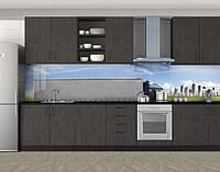 Кухонный фартук Грузовое авто, виниловая самоклеющаяся пленка, наклейка на кухню, скинали на стену, Серый, 600*3000 мм