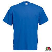 Футболка мужская L/50 Fruit of The Loom Valueweight T Ярко-синий от 100 шт