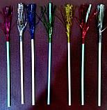 Трубочка пластиковая коктейльная с изгибом и пальмой разных цветов L 240 мм (уп 25 шт), фото 3