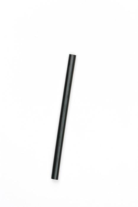 Трубочка пластиковая для мартини без изгиба черного цвета L 140 мм (уп 50 шт)