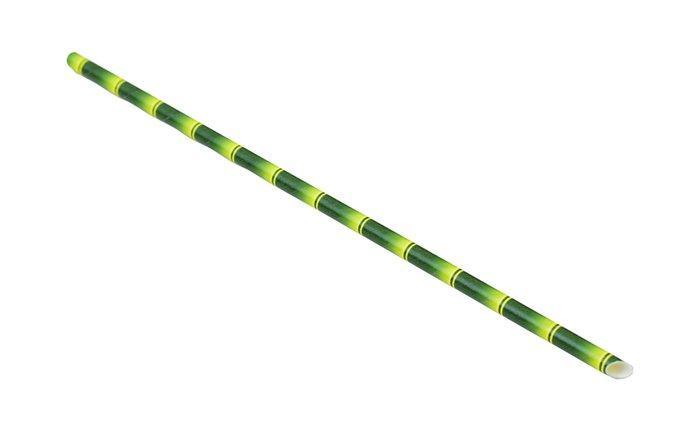 Трубочка бумажная в виде бамбука без изгиба L 240 мм (уп 50 шт)