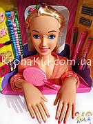 Кукла-манекен для причесок Defa Luc 8415 с аксессуарами / голова-манекен для причесок с плойкой, расческой