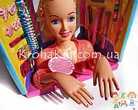 Игрушка кукла-манекен Defa Luc 8415 с аксессуарами / голова-манекен для причесок с плойкой, расческой