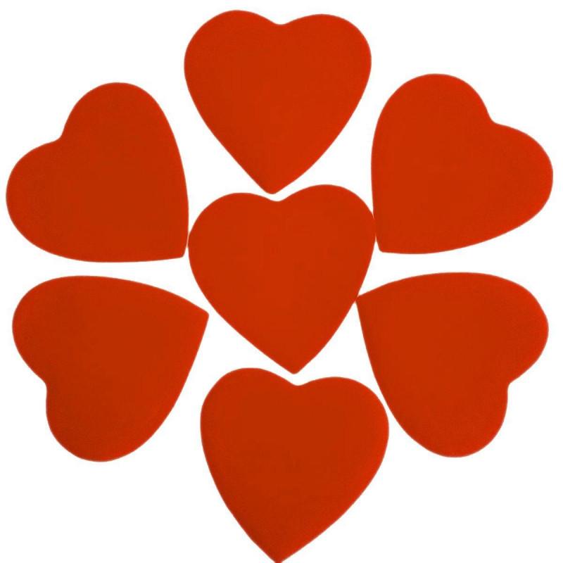 Конфетти Сердца, Оранжевые, 100 гр