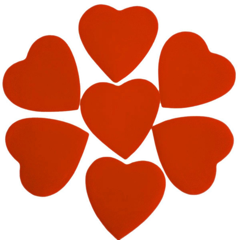 Конфетти Сердца, Оранжевые, 250 гр