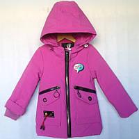 """Куртка детская демисезонная """"Andinaisi"""" #Z-906 для девочек до 3 лет (74-80-86-92-98см). Сиреневая. Оптом., фото 1"""