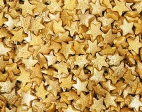 Посыпка звездочки золото 50 грамм