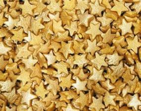 Посыпка звездочки золото 50 грамм, фото 2