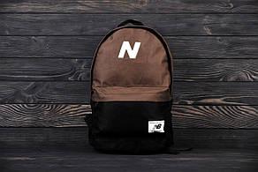 Стильный рюкзаки NEW BALANCE Коричневый с черным