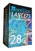 Ланцеты Веллион (Wellion) 28G (0,37мм) 200 штук