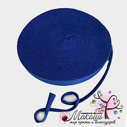 Трикотажная пряжа в ролике Барва, стандарт 7-9 мм, синий кобальт