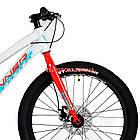 Подростковый велосипед Winner Junior 24 дюйма бело-красный, фото 3