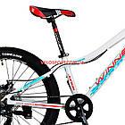 Подростковый велосипед Winner Junior 24 дюйма бело-красный, фото 5