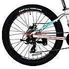 Подростковый велосипед Winner Junior 24 дюйма бело-красный, фото 6