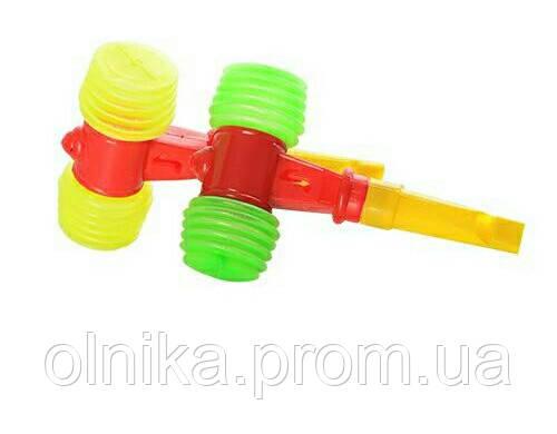 Игрушка-погремушка молоток со свистком мини