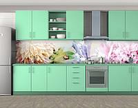 Нежность лета, Стеновая панель для кухни с фотопечатью, Цветы, розовый
