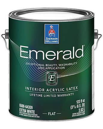 Краска Emerald Flat Sherwin-Williams интерьерная экстра белая глубокоматовая, 3,63л (эмеральд шервин вильямс), фото 2