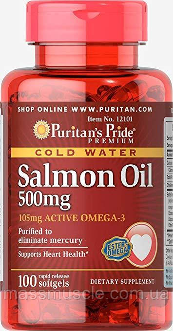 Омега-3 Puritan's Pride Salmon Oil 500 mg 100 caps