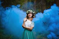 Цветной дым синий (дымный факел)