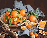 """Картина по номерам. Натюрморт """"Оранжевое наслаждение"""" 40*50см KHO5545"""