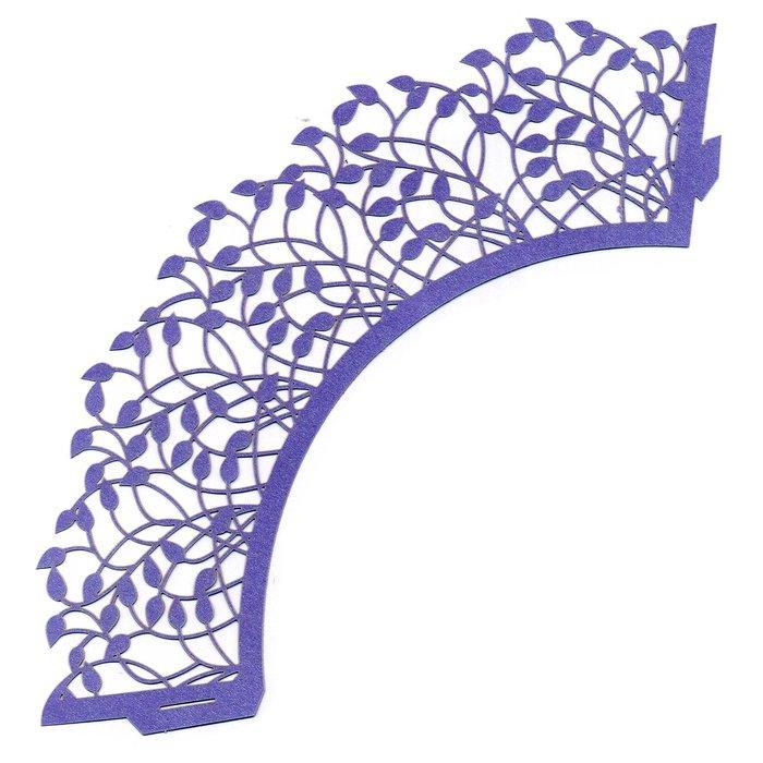 0383 Накладка бумажная декоративная ажурная для маффинов разных цветов (уп 20 шт)
