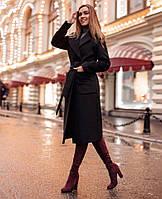 Стильное женское кашемировое пальто большие размеры