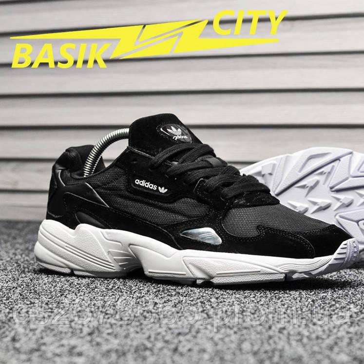 Мужские кроссовки Adidas Falcon Black White
