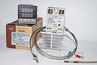 Терморегулятор REX-C100, SSR-40 DA, термопара 0-400°C 1 метр, радиатор